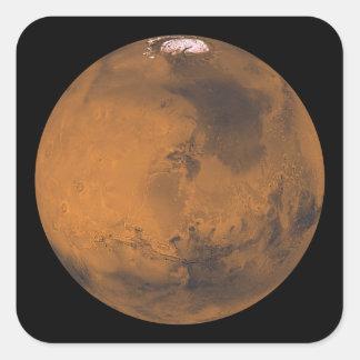 Opinión de color global de Marte Pegatina Cuadrada