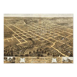 """Opinión de Columbia, Missouri (1869) del ojo de Invitación 5"""" X 7"""""""