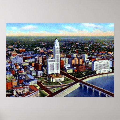 Opinión de Columbus Ohio Birdseye Posters