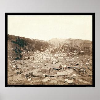 Opinión de Deadwood de la colina SD 1888 de McGove Impresiones