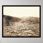 Opinión de Deadwood de la colina SD 1888 de McGove Póster