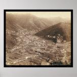 Opinión de Deadwood de Mt. Moriah SD 1888 Póster