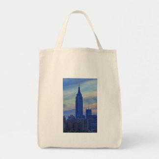 Opinión de East River del Empire State Building A1 Bolsa Tela Para La Compra