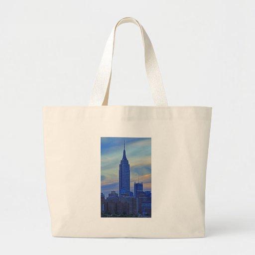 Opinión de East River del Empire State Building A1 Bolsa De Mano