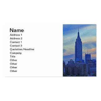 Opinión de East River del Empire State Building A1 Tarjetas De Visita