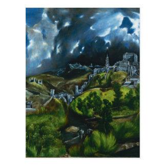 Opinión de El Greco de la postal de Toledo