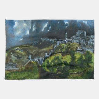 Opinión de El Greco de la toalla de cocina de Tole