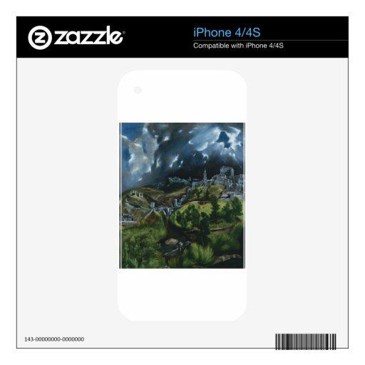 Opinión de El Greco de Toledo Calcomanías Para iPhone 4S