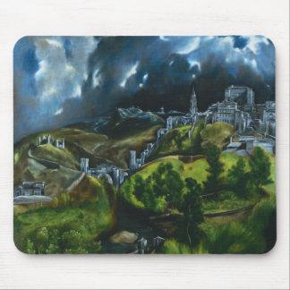 Opinión de El Greco del cojín de ratón de Toledo Tapete De Ratón