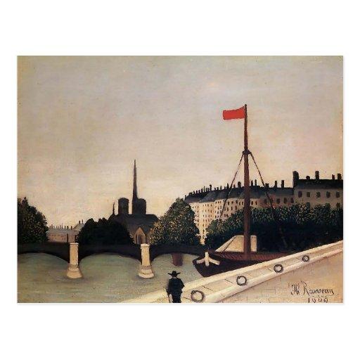 Opinión de Enrique Rousseau- Notre Dame del Saint  Tarjeta Postal