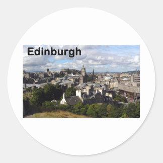 Opinión de Escocia Edimburgo (St.K) Pegatina Redonda