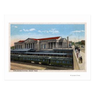 Opinión de estación de ferrocarril de Burlington Postales