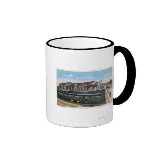 Opinión de estación de ferrocarril de Burlington Tazas De Café