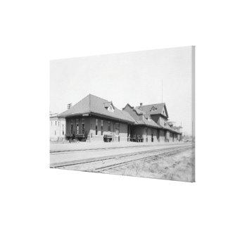 Opinión de estación de ferrocarril impresión en lona