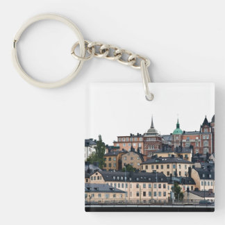 Opinión de Estocolmo Llavero Cuadrado Acrílico A Una Cara