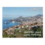 Opinión de Funchal, isla de Madeira Tarjeta Postal