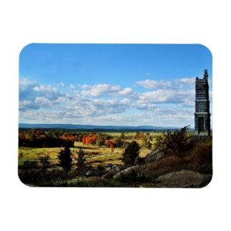 Opinión de Gettysburg del pequeño top redondo Imanes