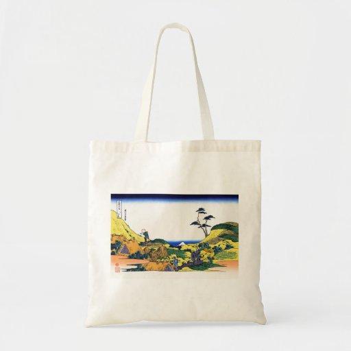 Opinión de Hokusai Fuji del katsushika de Shimomeg Bolsa Tela Barata