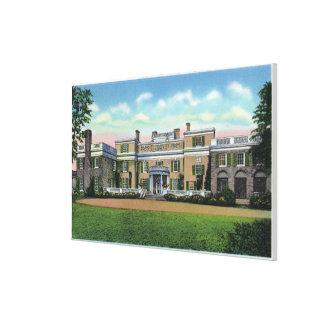 Opinión de Hyde Park de la mansión de presidente F Impresión En Lienzo