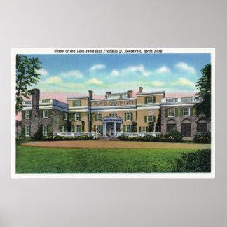 Opinión de Hyde Park de la mansión de presidente F Póster