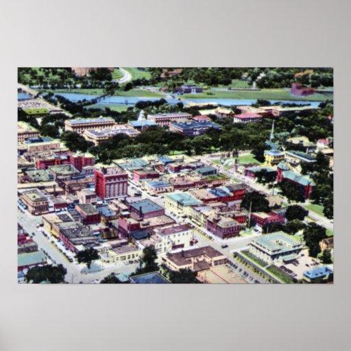 Opinión de Iowa City Iowa Birdseye Impresiones