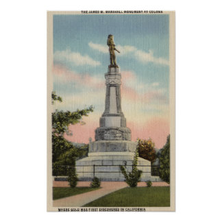 Opinión de James W. Marshall Monument # 1 Póster