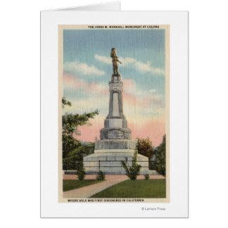Opinión de James W. Marshall Monument # 1 Tarjeta De Felicitación