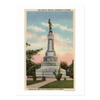 Opinión de James W. Marshall Monument # 1 Tarjetas Postales