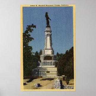 Opinión de James W. Marshall Monument # 2 Póster