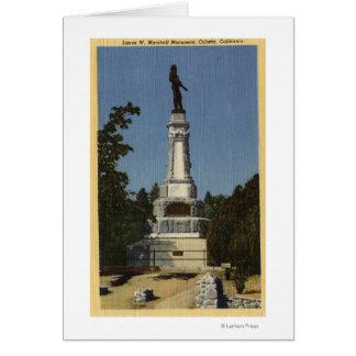 Opinión de James W. Marshall Monument # 2 Tarjeta De Felicitación