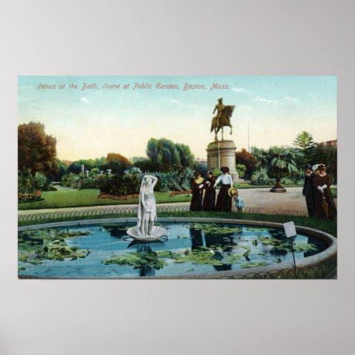 Opinión de jardín público de Boston de Venus en el Posters