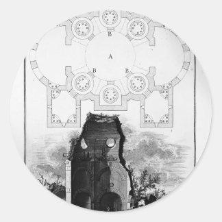 Opinión de Juan Piranesi- de la tumba del Scipios Etiquetas Redondas