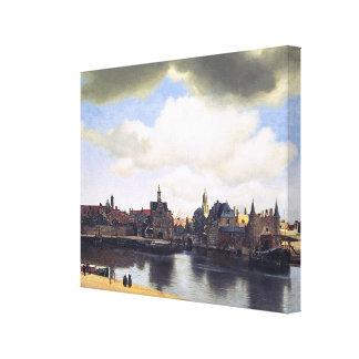 Opinión de Juan Vermeer de Delft (circa 1660) Lienzo Envuelto Para Galerías