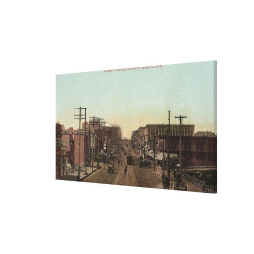 Opinión de la avenida de Hewitt Lona Estirada Galerías