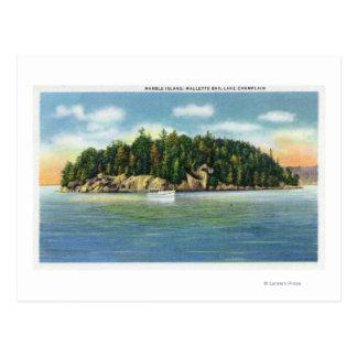 Opinión de la bahía de Malletts de la isla de Tarjetas Postales