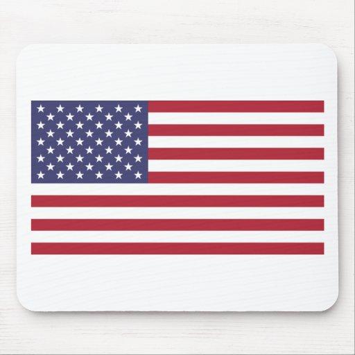 Opinión de la bandera americana, entera o del deta tapete de ratón