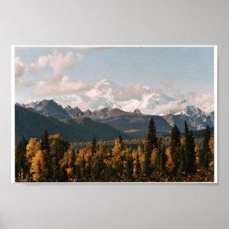 Opinión de la caída de Denali, el monte McKinley Posters