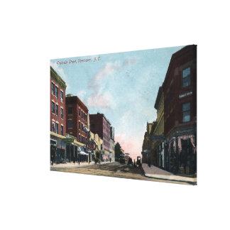 Opinión de la calle de Granville Lienzo Envuelto Para Galerías