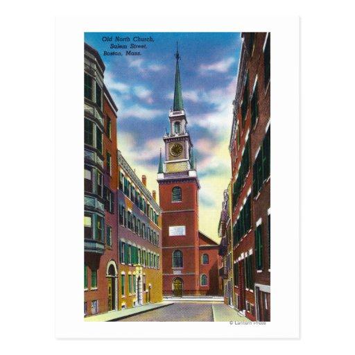 Opinión de la calle de Salem del edificio del Tarjetas Postales
