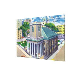 Opinión de la calle de Tremont reyes Chapel Impresión En Lona Estirada