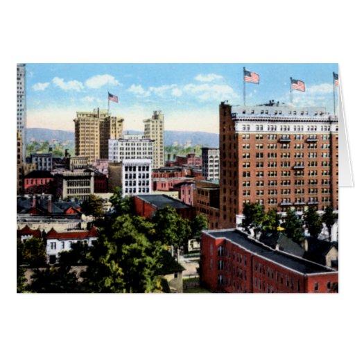 Opinión de la ciudad de Birmingham Alabama del hor Tarjetas