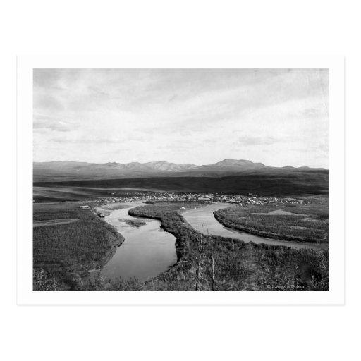 Opinión de la ciudad de Iditarod, fotografía de Tarjeta Postal