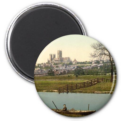 Opinión de la ciudad de Lincoln, Lincolnshire, Ing Imán Para Frigorifico