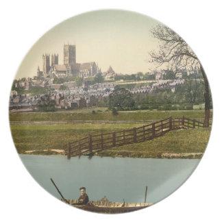 Opinión de la ciudad de Lincoln, Lincolnshire, Ing Plato De Cena