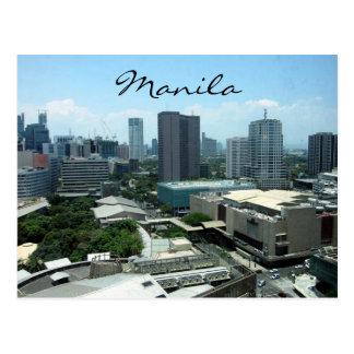 opinión de la ciudad de Manila Tarjetas Postales