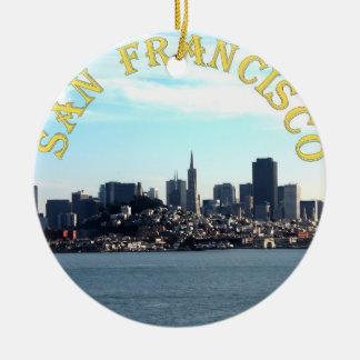 Opinión de la ciudad de San Francisco de la bahía Ornamento De Navidad