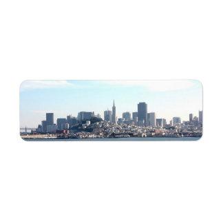 Opinión de la ciudad de San Francisco de la bahía Etiqueta De Remite