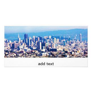 Opinión de la ciudad de San Francisco panorámica Tarjetas Fotograficas Personalizadas