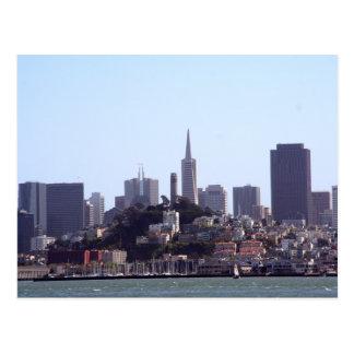 Opinión de la ciudad de San Francisco Tarjeta Postal