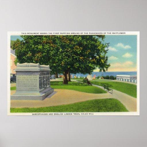 Opinión de la colina de Coles del monumento del en Póster
